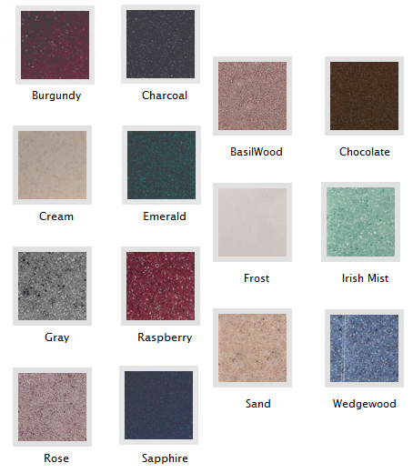 marble urn color chart